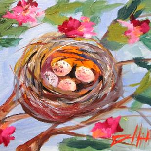 Art: Nest and Eggs by Artist Delilah Smith