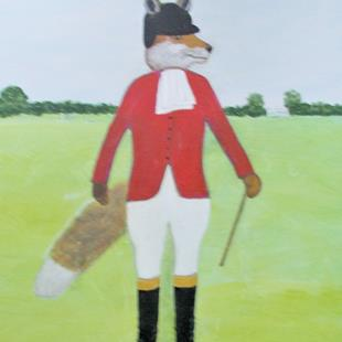 Art: Tally-Ho! Fox Hunting! (Sold) by Artist Fran Caldwell