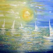 Art: SAILING in the SUNSET by LUIZA VIZOLI