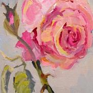 Art: Pink Rose No. 9 by Delilah Smith