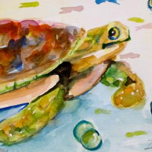 Art: Sea Turtle by Artist Delilah Smith