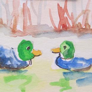 Art: Mallards by Artist Delilah Smith