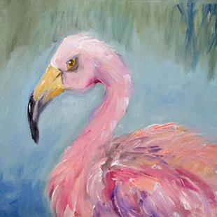 Art: Flamingo No.28 by Artist Delilah Smith