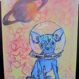 Art: Chiwawa Dog in Space by Artist Paul Lake, Lucky Studios