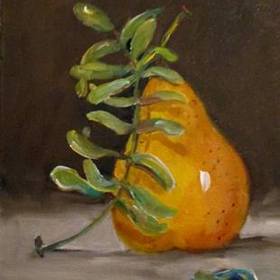 Art: Pear and Eucalyptus by Artist Delilah Smith