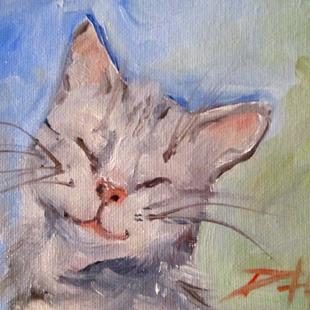 Art: Smiling Kitten by Artist Delilah Smith
