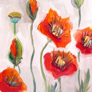 Art: Poppy Garden by Artist Delilah Smith