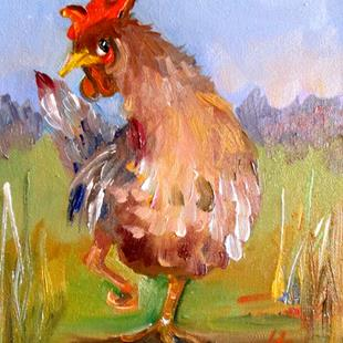 Art: Rooster No. 59 by Artist Delilah Smith