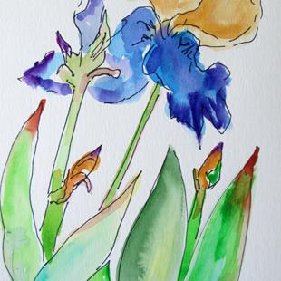Art: Iris Garden by Artist Delilah Smith
