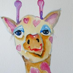 Art: Valentine Giraffe by Artist Delilah Smith