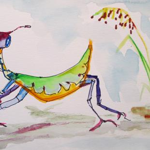 Art: Praying Mantis by Artist Delilah Smith