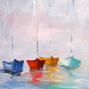 Art: Sailboats No. 18 by Artist Delilah Smith