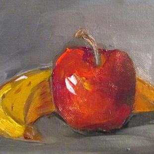 Art: Banana and Apple by Artist Delilah Smith