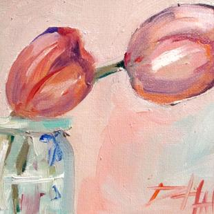 Art: Pink Tulips by Artist Delilah Smith