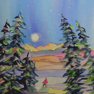 Art: Finding Peace (sold) by Artist Kathy Crawshay