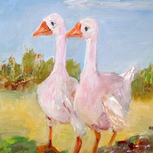 Art: Two Geese by Artist Delilah Smith