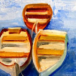 Art: Row Boats by Artist Delilah Smith