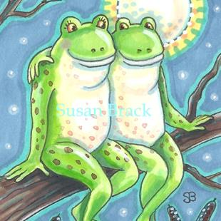 Art: FROGGY WENT A COURTING #2 by Artist Susan Brack