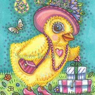 Art: DRESS UP Easter by Artist Susan Brack