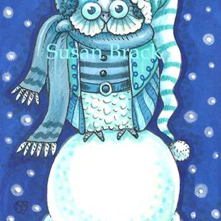 Art: SNOW OWL #2 by Artist Susan Brack