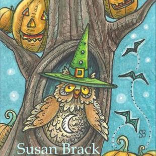Art: HOOTS N' HALLOWEEN JACKS by Artist Susan Brack