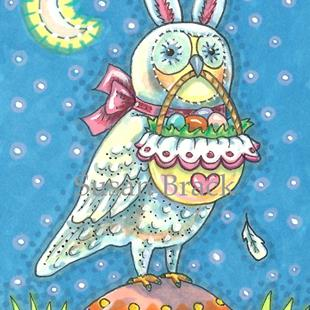 Art: WHOOO BELIEVES IN EASTER MAGIC? by Artist Susan Brack