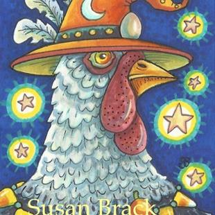 Art: HOCUS POCUS Chicken by Artist Susan Brack