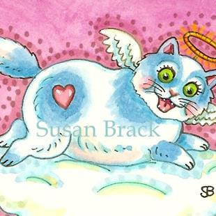 Art: ROLY POLY ANGEL PUSS by Artist Susan Brack