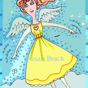 Art: I CAN FLY Angel by Artist Susan Brack