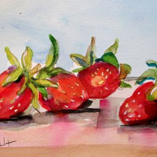 Art: Strawberries-sold by Artist Delilah Smith
