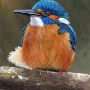 Art: Kingfisher No 4 by Artist Janet M Graham