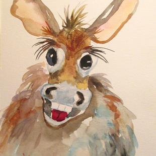 Art: Silly Donkey by Artist Delilah Smith
