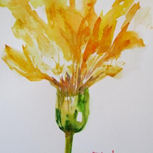 Art: Yellow Flower by Artist Delilah Smith