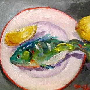 Art: Fish with Lemon by Artist Delilah Smith