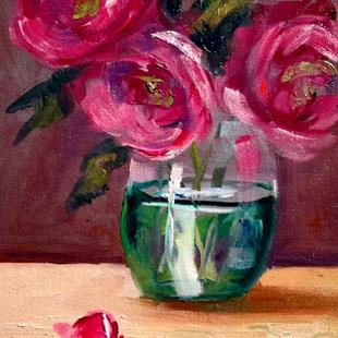 Art: Still Life with Roses by Artist Delilah Smith