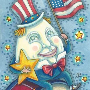 Art: UNCLE SAM'S A GOOD EGG by Artist Susan Brack