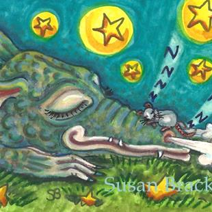 Art: DRAGON SNORES by Artist Susan Brack