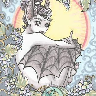 Art: Fruit Bat by Artist Emily J White
