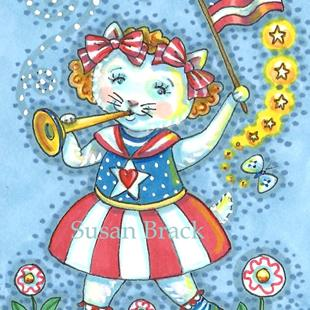 Art: LOOKING GOOD IN HER RED, WHITE AND BLUE by Artist Susan Brack