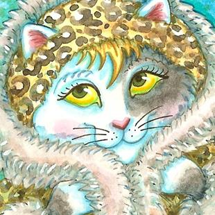Art: LOOKING CAT FABULOUS by Artist Susan Brack