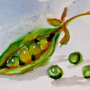 Art: Peas and Pod by Artist Delilah Smith