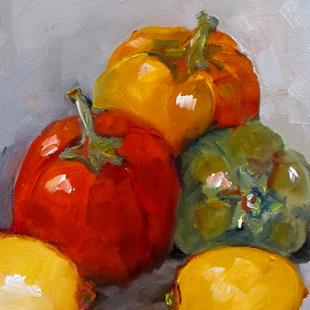 Art: Peppers and Lemons by Artist Delilah Smith