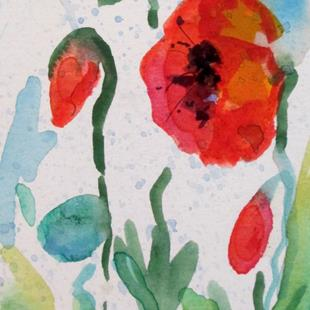 Art: Poppies Aceo by Artist Delilah Smith