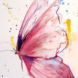 Art: Pink Butterfly No.4 by Artist Delilah Smith