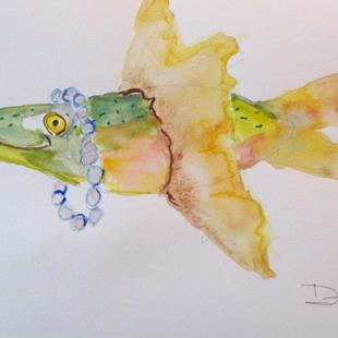 Art: Fish with Pearls by Artist Delilah Smith