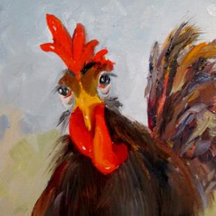 Art: Curious Chicken by Artist Delilah Smith