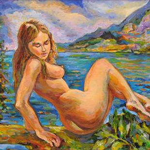 Art: The Bather by Artist Luda Angel
