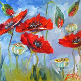 Art: Poppies No. 17 by Artist Delilah Smith