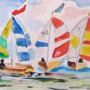 Art: Sailboat No. 22 by Artist Delilah Smith