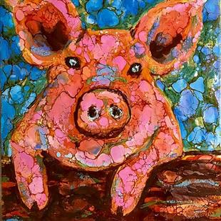 Art: Pig (sold) by Artist Ulrike 'Ricky' Martin